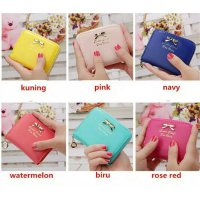 Dompet Mini Ribbon Wallet import/simple/cewek korea style/Gift kado