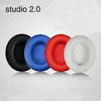 [globalbuy] 2pcs/pairs Leather Headphone Foam For Monster Beats Studio 2.0 headset ear pad/3634480