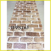 WALLPAPER STICKER WPS165-DARK BROWN BRICK WALPAPER STIKER DINDING