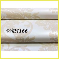 WALLPAPER STICKER WPS166- WHITE N BIG CREAM WALPAPER STIKER DINDING