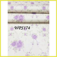 WALLPAPER STICKER WPS174 SOFT CREAM N PURPLE WALPAPER STIKER DINDING