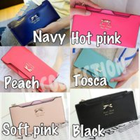 dompet cantik korea fashion wanita - ribbon wallet