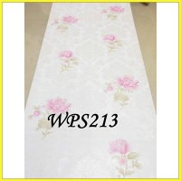 WALLPAPER STICKER WPS213 WHTE MEDIUM PINK FLO WALPAPER STIKER DINDING