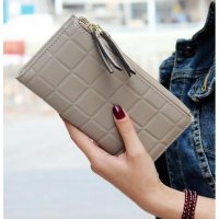 Dompet Wanita Import Alice Woman Wallet Fashion korea Murah keren GREY
