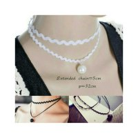 KALUNG KOREA PEARL LACE WATERDROP DOBLE LAYER