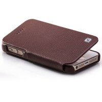 HOCO DUKE Leather FOLDER Case for APPLE Iphone 5S & 5C Brown