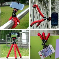 PAKET Fleksibel Gorilla Pod Spider Flexible Mini Tripod Plus Holder HP