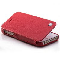 HOCO DUKE Leather FOLDER Case for APPLE Iphone 5S & 5C Red