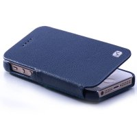 HOCO DUKE Leather FOLDER Case for APPLE Iphone 5S & 5C Blue