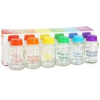 DISKON Babypax Breastmilk Bottle Rainbow 6pcs (botol ASI kaca)