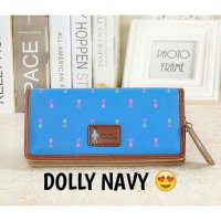 Dompet Korea Wanita Import Dolly Wallet Blue