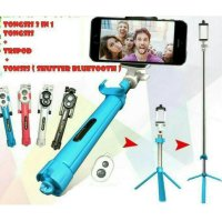 TONGSIS BLUETOOTH 3 IN 1 ( TONGSIS, TRIPOD, TOMSIS ) MURAH