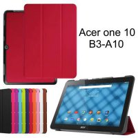 [globalbuy] For Acer Iconia One 10 B3-A10 10.1-Inch Tablet Cases Custer Tri-fold PU Leathe/2368336