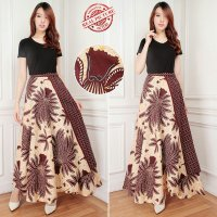 Cj collection Rok lilit batik maxi payung panjang wanita jumbo long skirt Difa