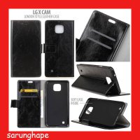 LG X Cam London Style Leather Case Casing Cover