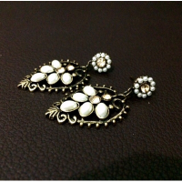 Anting Mutiara Etnik Vintage Oval Bulat India Bali Fashion Hijab SJ0045