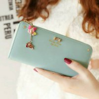 Dompet Korea Zipper Wallet Import Tosca