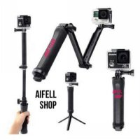 TMC 3 way foldable extension tripod for xiaomi yi goPro monopod stand