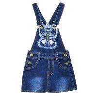 DISKON Dress Anak Overall Rok Jeans Kupu Bordir