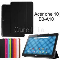 [globalbuy] For Acer Iconia One 10 B3-A10,Tri-Fold Ultra Slim Stand smart Case cover for A/2366817
