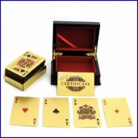 Playing Cards With Box - Kartu Remi - Gold Foil Plastic - Waterproof