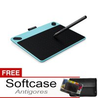 Wacom Intuos Art Creative Pen + Touch Tablet Small Cth-490 - Blue Mint Free Softcase dan Antigores
