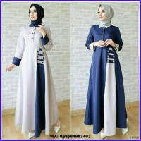 NF - GROSIR AFIDA DRESS / KEBAYA MODERN / BAJU KEKINIAN / TEA TREE / DRESS SABRINA / ROK LILITNAVY