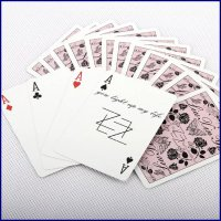 Playing Cards Flower Pink - Kartu Remi - Poker - Standard Casino Game