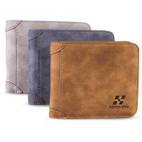 Men Leather ID credit Card holder Clutch Coin Purse Wallet