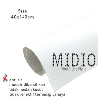 Midio Mini Photo Studio Background Putih 40x140cm