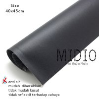 Midio Mini Photo Studio Background Hitam 40x140cm
