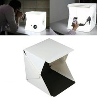 Photo foto Studio box Mini camera kamera with LED light - White Black