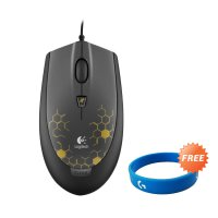 Logitech G100 Gaming Mouse - Gold Matte Free G-Band