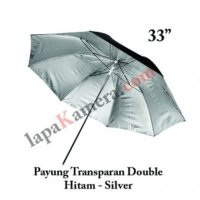 Payung Softbox Lampu Studio Black Silver