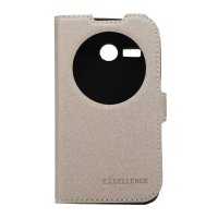 EXCELLENCE FLIP COVER ETERNITY LENOVO A 316i - GOLD