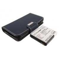 Cameron Sino Extended Battery 5200mAh with Flip Leather Case Samsung Galaxy S4 (i9500)