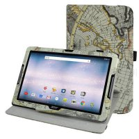 [globalbuy] 360 Degree Rotary Rotating Leather Cute Case Cover For 10.1 Acer Iconia One 10/5196213