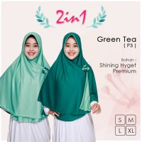 Pricilla Jilbab Bolak Balik 2 in 1 P3 - Green Tea XL
