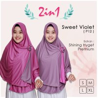 Pricilla Jilbab Bolak Balik 2 in 1 P12 - Sweet Violet XL