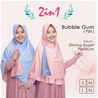 Pricilla Jilbab Bolak Balik 2 in 1 P20 - Bubble Gum XL