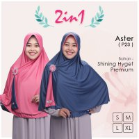 Pricilla Jilbab Bolak Balik 2 in 1 P23 - Aster XL