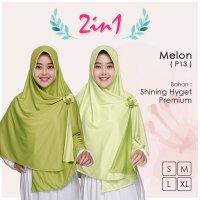 Pricilla Jilbab Bolak Balik 2 in 1 P13 - Melon XL