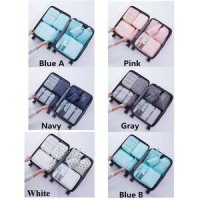 Travel Organizer Bags 8 in 1 Isi 8 Pcs Waterproof Tas Dalam Koper