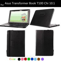 [globalbuy] T100 CHI Lichee Pattern Flip PU Leather Case For Asus Transformer Book T100 Ch/5189093