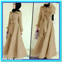 (Gamis) Long Coat Lotto Abudhabi Cream