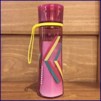 Tumbler Starbucks Summer Bottle Slimline Stripe Purple Ungu