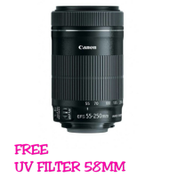 LENSA CANON EF-S 55-250MM F/4-5.6 IS STM + UV FILTER