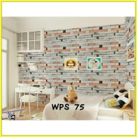 Wallpaper Dinding Uk. 45cm x 10m Motif List Crayon Kombinasi