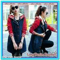 (Coat) Coat Long Denim Baseball