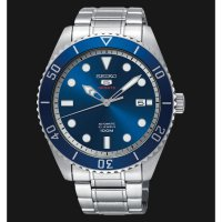SEIKO SPORTS 5 SRPB89K1 MEN BLUE SUNRAY DIAL STAINLESS STELL STRAP